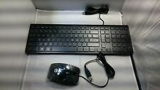 Hewlett Packard HP SK2026 USB Wired PC Blak Multimedia Keyboard and Mouse MOGIUO