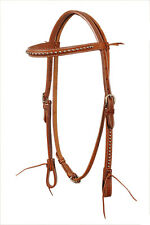 Western Natural Silver Spot Studded Browband Style Headstall