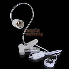Flexible E27 LED Light Lamp Holder Socket On Off Switch Cable Cord Clip 50cm UK