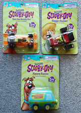 3 SCOOBY DOO Friction Powered The Mystery Machine/Race Car/Shaggy's Roadster