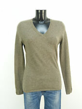 WITTY KNITTERS PULLOVER GR M / BRAUN & 100% CASHMERE - LUXUS PUR   ( L 9121 )