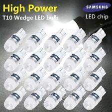 20X Super White High Power T10 Wedge SAMSUNG LED Light Bulbs W5W 192 168 194 12V