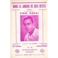 DANS LE JARDIN DE MES REVES tango TINO ROSSI paroles POTERAT musique REISFELD