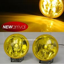 """Fit Challenger 4"""" Round Yellow Bumper Driving Fog Light Lamp + Switch & Harness"""