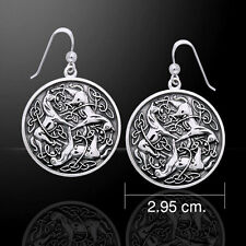 Viking Warrior Horse .925 Sterling Silver Earrings by Peter Stone