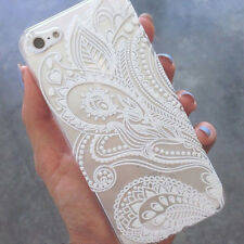 Hot Henna White Floral Flower Plastic Case Cover Skin For iPhone 6s 4.7Inch Case