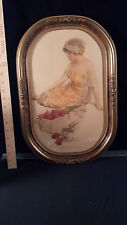 "Rare Framed Print Bessie Pease Gutmann "" The Message Of The Roses """