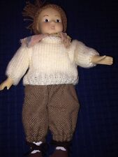 German Boy Doll, Porcelain Head, Hands And Feet. No Tag