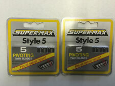 SUPER-MAX STYLE 5 PIVOTING TWIN BLADES 5 PACKS OF 5