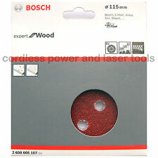6 Bosch 115mm WOOD 8 Hole Sanding Sheets 60 120 240 Grit PEX 11 A/AE 2608605107