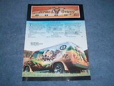 "1976 Dodge Van Custom Article ""Armed and Crazy"" Western Mural SWB"