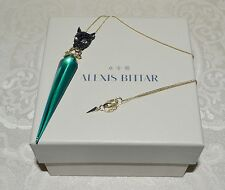 New $225 Alexis Bittar Panther Crystal Encrusted Pendant Necklace Jungle Green