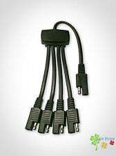 5-Way Adapter Connector SAE 16AWG GPS Solar Panel Cable Splitter Battery Charge