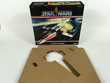 Reproduction prototype vintage star wars power of the force x-wing box + inserts