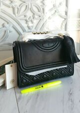 AUTHENTIC TORY BURCH FLEMING CONVERTIBLE SHOULDER BAG IN BLACK SMALL  NWT