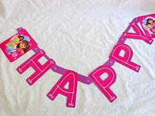 DORA the Explorer and Friends HAPPY BIRTHDAY BANNER Purple 7.59 ft Design Ware
