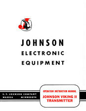 """Johnson Viking II Transmitter Manual with 11x17"""" Schematic"""