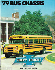 1979 Chevrolet Trucks SCHOOL BUS Chassis Brochure / Pamphlet