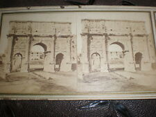 Stereoview photograph Arch of Constantine Rome Italy c1860s