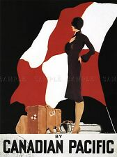 ADVERT TRAVEL FOREST CANADIAN PACIFIC GOLF ART POSTER PRINT PICTURE LV6791