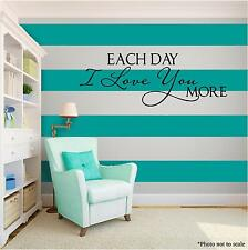 LOVE YOU MORE Family Vinyl Wall Art quote Home Family Decor Decal Word & Phrase