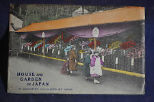 Ca 1910 *HAND COLORED* 4 Different House & Garden In Japan Postcards