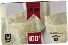 SAQ Gift Card CRYSTAL GLASS New No Value (CARTE-CADEAU) --0--- BALANCE *FRENCH*