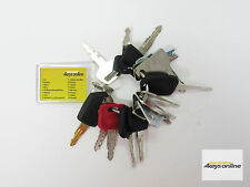 Master Key Set (16 keys) for Heavy Plant incl. Caterpillar, Komatsu and Hitachi