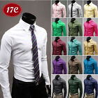Langarm Herren Hemd Standard Business Anzug Freizeit Slim Fit Dress Shirts