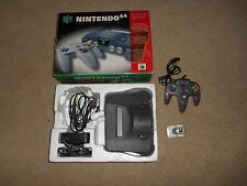 Nintendo 64 System Gray Console In Box CIB N64 Bundle Purple Rumble Complete