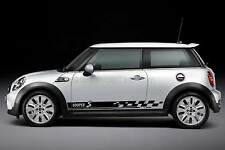 MINI COOPER S Adesivo Auto, Controllo BANDIERA SIDE STRIPE grafico personalizzato decalcomania