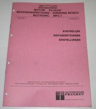 Werkstatthandbuch Peugeot 605 Motor Benzineinspritzung Zündung BOSCH Stand 1990!
