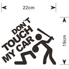 Black DON'T TOUCH MY CAR Funny Sticker Door Window Bumper Rear Car Auto Trunk