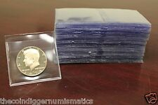 100 2X2 Saf T Flips Coin Submission Non PVC Plastic Vinyl Archival Double Pocket