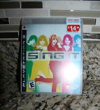 New Playstation 3 PS3 Disney Sing It Montana Cyrus Video Game- Gift Idea