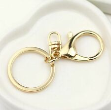 2pcs Metal Round Lobster Trigger Swivel Clasps Hook Clips Keychain Key Ring