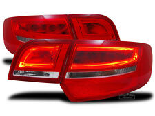 LED Light Tube taillights in red white fit for Audi A3 8PA Sportback 04-08