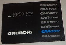 Manual de instrucciones Grunding autoradio WKC 1700 Vd