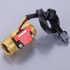 """G1/2"""" Water Flow Hall Sensor Switch Flow Meter 1-25L/min For Industrial Control"""