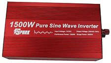 1500W (3000W peak)  pure sine wave power inverter soft start 12v 230V AC