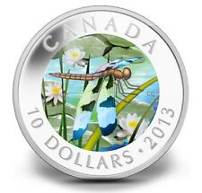 CLEARANCE MUST SELL! Canada 2013 $10 Twelve-Spotted Skimmer 99.99% Silver coin