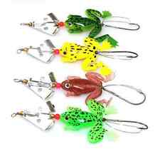 4pcs Topwater Soft Plastic Lures Frog Buzzbaits Spinner Native Freshwater Lures