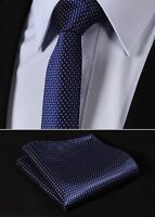 "TC1001K5 Pink Navy Blue Check 2.17"" Silk Slim Narrow Men Handkerchief Necktie"