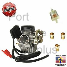 GY6 50-100cc 20mm Big Bore Carb Jet Kit #85 #88 #90 Filter 139QMB Scooter Moped