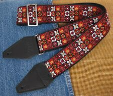 HENDRIX WOODSTOCK Cotton USA made Historic TROPHY Guitar Strap - Elvis