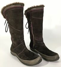 The North Face Janey Boots Primaloft 200 Gram Brown Leather & Suede Back Tie 8