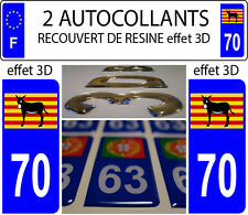 2 stickers plaque immatriculation auto DOMING 3D RESINE Ane Catalan Burro DEP 70