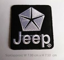 Jeep Embroidered Patch Sew Iron On Applique Motor Sports Racing Car New