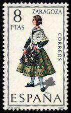 """SPAIN 1444 (Mi1927) - Regional Costumes """"Woman from Zaragoza"""" (pf2774)"""