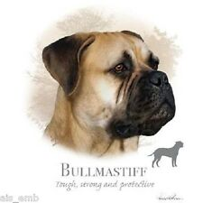 Bullmastiff Dog HEAT PRESS TRANSFER PRINT for T Shirt Sweatshirt Tote Fabric 880